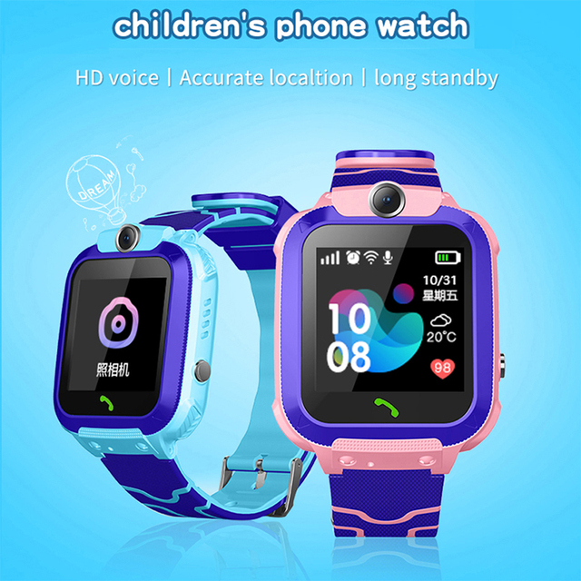 Smart Watch LIGE 2019 New LBS Kid Smart Watches Anti Lost Baby Watch for Kids SOS Call Location Finder Locator Tracker + Box