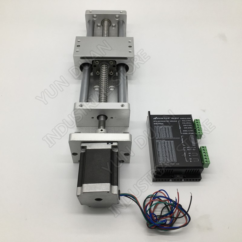 300MM Stroke Sliding Table Linear Module & NEMA23 Stepper Motor & Driver & Coupling Kits Slide Linear Stage BallScrew 1605