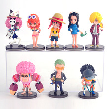 Luffy Zoro Nami Usopp Sanji Robin Doflamingo Brook Action Figure 7CM 8Pcs