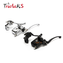 Black RIGHT 7/8 22mm Motorcycle Front Brake Clutch Master Cylinder Motorbike Hydraulic Pump Lever For Honda Yamaha Kawasaki etc fxcnc aluminum 7 8 22mm motorcycle brake clutch master cylinder reservoir hydraulic lever for 50cc 300cc motorcycles brake
