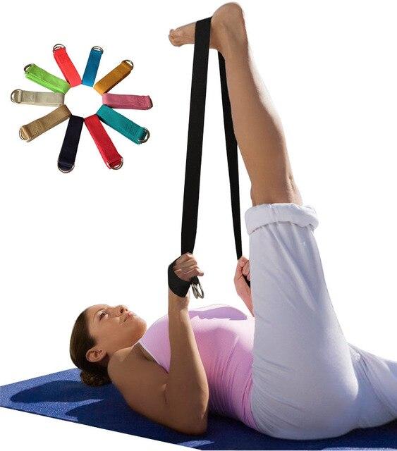 Fitness Multi-Colores Yoga cinturones correa de estiramiento D-anillo  cinturón de cintura pierna 54e73b5232f5