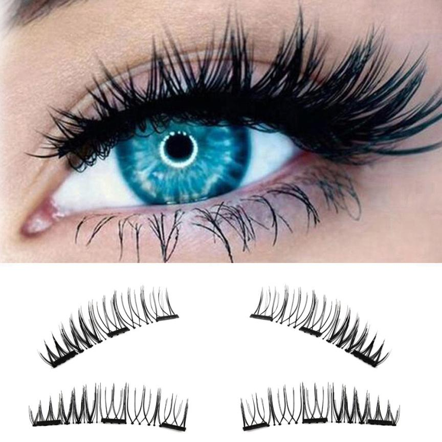 magnetic eyelashes 0.2mm thin 3D Reusable False Eyelashes Synthetic Hair magnetic eyelash extension lashes New 18.15