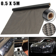 Autoleader 0.5 x 5M PVA Black Carbon Texture Water Transfer Hydrodipping Film Fiber Hydro Dip Print Auto Motorcycle Decoration
