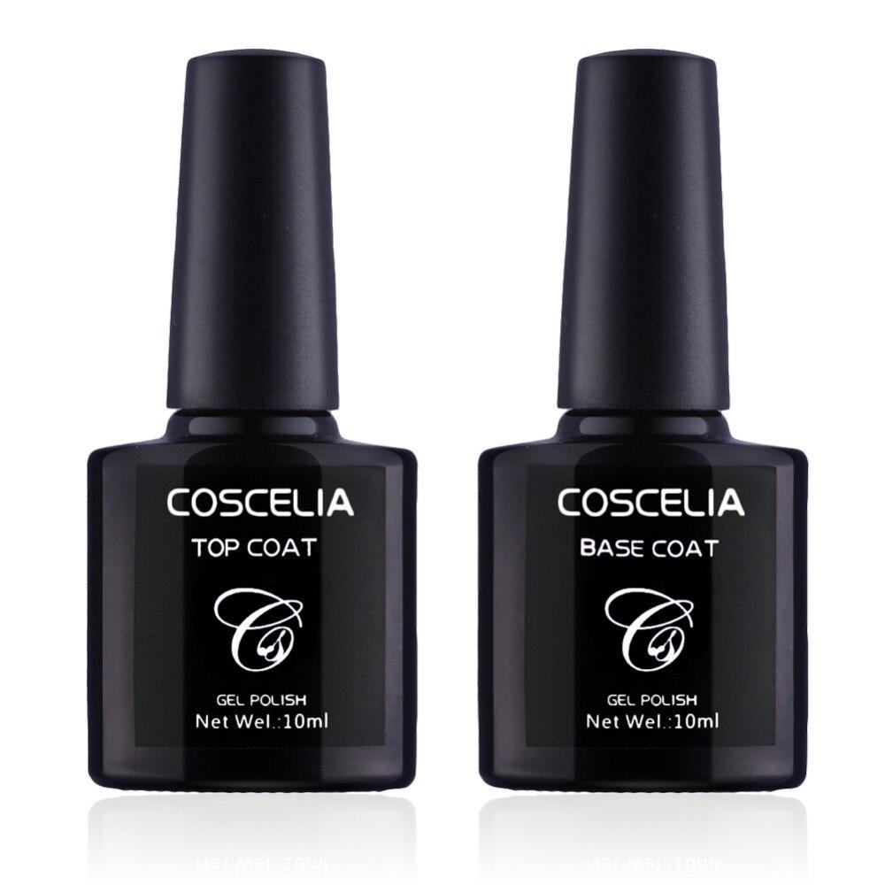 No Clean Top Coat Base Coat UV Gel Nail Polish Shiny Sealer Manicure ...