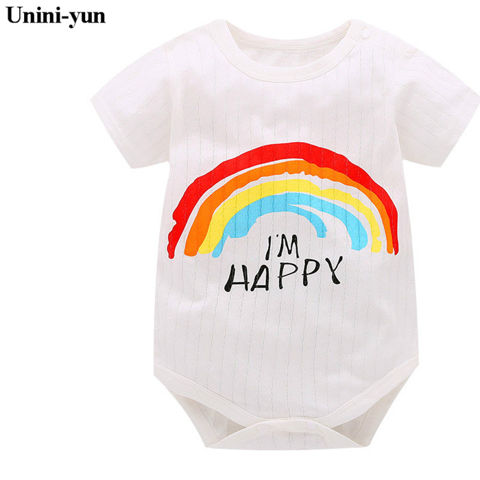Unini-yun 2017Summer Baby Boys Romper Panda Print Short Sleeve infant rompers Jumpsuit cotton Baby Rompers Newborn Clothing mother nest 3sets lot wholesale autumn toddle girl long sleeve baby clothing one piece boys baby pajamas infant clothes rompers