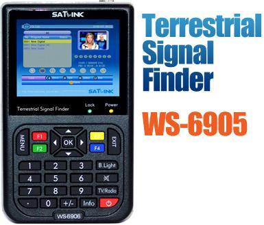 satlink ws-6905 dvb-t finder Satlink WS6905 terrestrial satellite signal finder sat dvb-t finder terrestrial finder satlink ws 6990 hd av input single channel dvb t modulator compact and wall mountable
