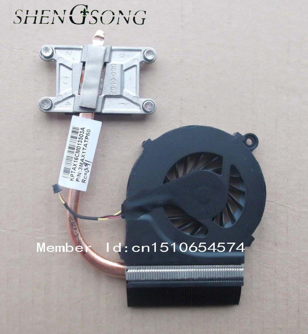 Livraison gratuite NOUVEAU pour HP CQ42 CQ62 G62 G42 CPU Ventilateur Du Processeur et de L'assemblée Radiateur 595832-001 3MAX1TATP60