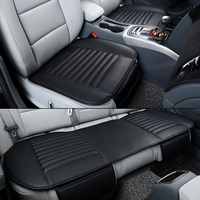 3Pcs Set High Quality Pu Leather Car Seat Covers Black Gray Universal Automobiles Seat Protector Cushions