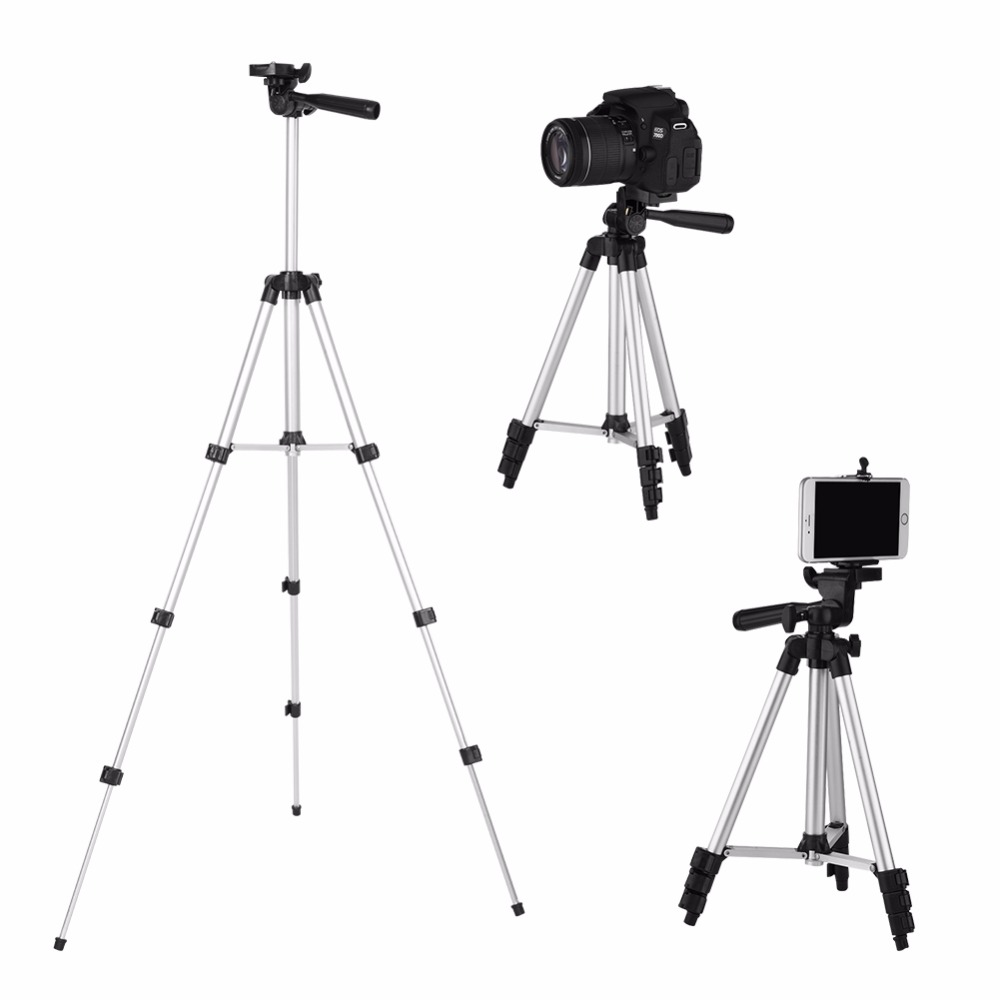 Universal Portable Camera Tripod For iPhone with Rocker Arm Tripod Stand For Canon/Nikon/Sony DSLR Camera Camcorder Tripod