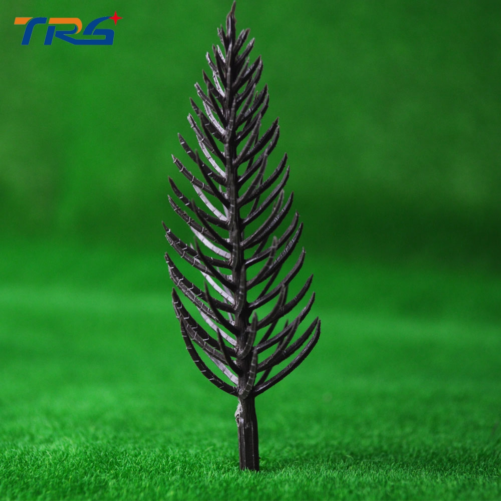 10cm model pine tree arm plastic tree 50pcs miniature scale model tree for sale china