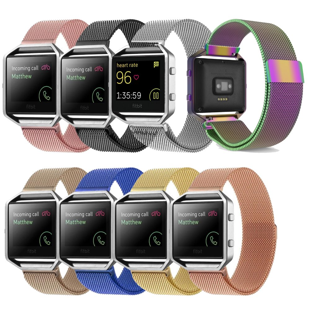 Fitbit Blaze Band Large , Metal Frame Housing & Milanese Loop Stainless Steel Bracelet Strap Band for Fitbit Blaze Smart watch fitbit blaze band large metal frame housing