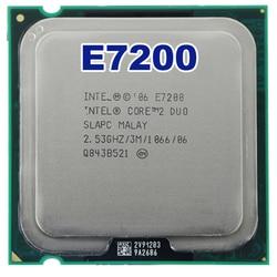 Oryginalny Core 2 Duo E7200 procesor CPU (2.53 Ghz/3 M/1066 GHz) gniazdo LGA 775 darmowa wysyłka|socket 775|core 2 duocore 2 duo e7200 -