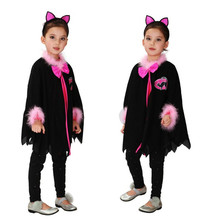 Children Christmas Gift Carnival Party Animal Costume Girl Kitty Cat Cosplay Movie Kids Masquerade Anime Fantasia Fancy dress