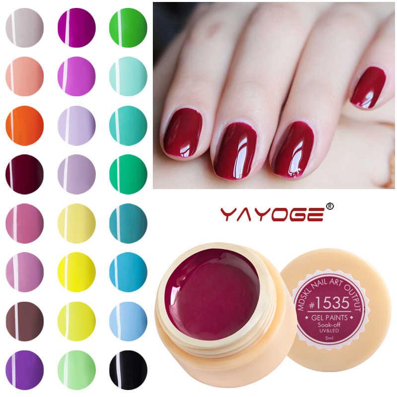 Pintura de uñas gel barniz laca LED UV gel esmalte de uñas diseño manicura YAYOGE uñas arte 75 COLOR remojo largo duradera
