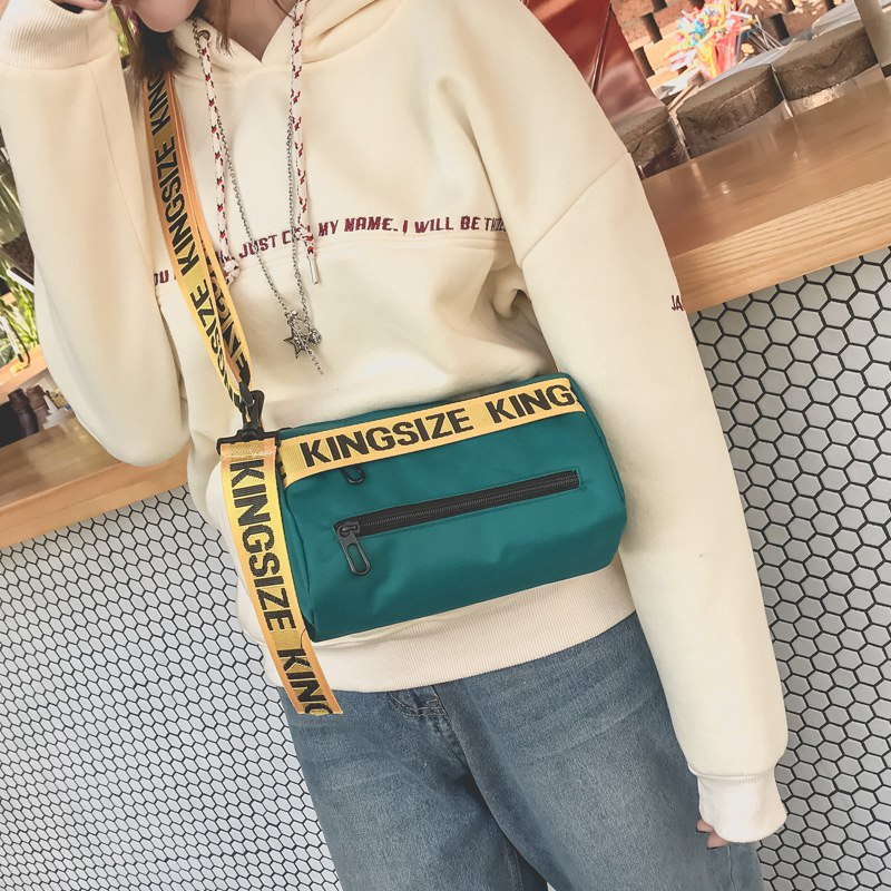Casual Shoulder Bags for Girls Female Crossbody Bags Letters Decorations Shoulder Straps Women Handbags Mixed Color Women Bags
