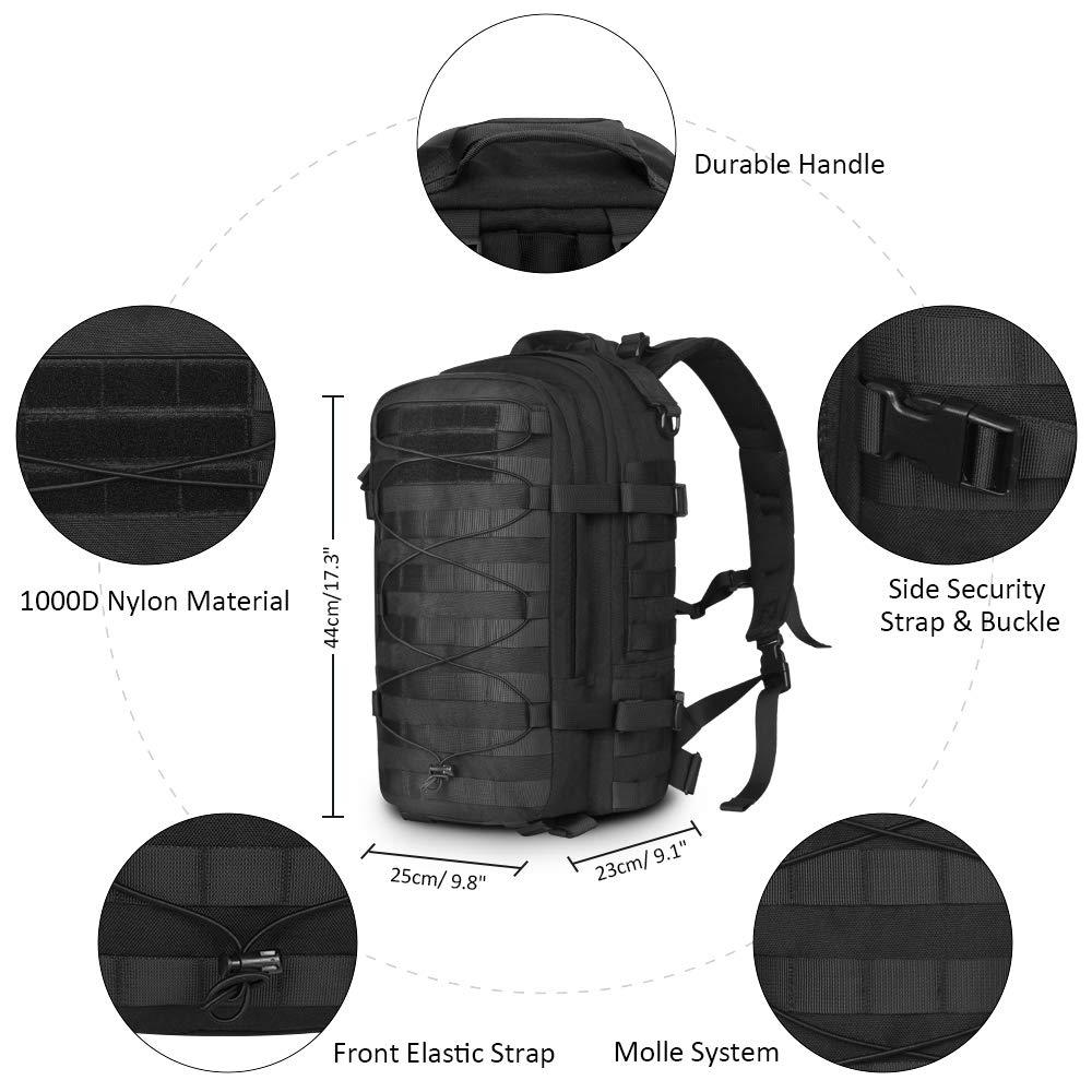 Sac à dos tactique en plein air sac d'assaut militaire armée Molle Bug Out sac 1000D sac à dos en Nylon sac à dos pour Camping randonnée - 3
