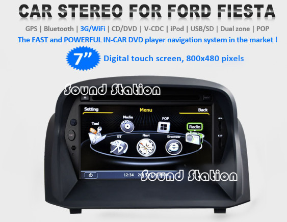 buy for ford fiesta 2009 2010 2011 2012 2013 car dvd gps navigation media. Black Bedroom Furniture Sets. Home Design Ideas