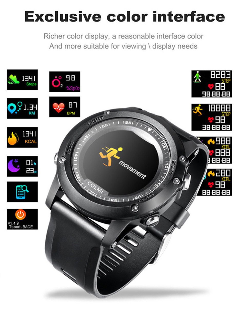 COLMI-T2-IP68-Waterproof-Heart-Rate-Monitor-Push-Message-Call-Reminder-Clock-Bluetooth-4.0-Brim-Men-Sport-Smart-Watch-2