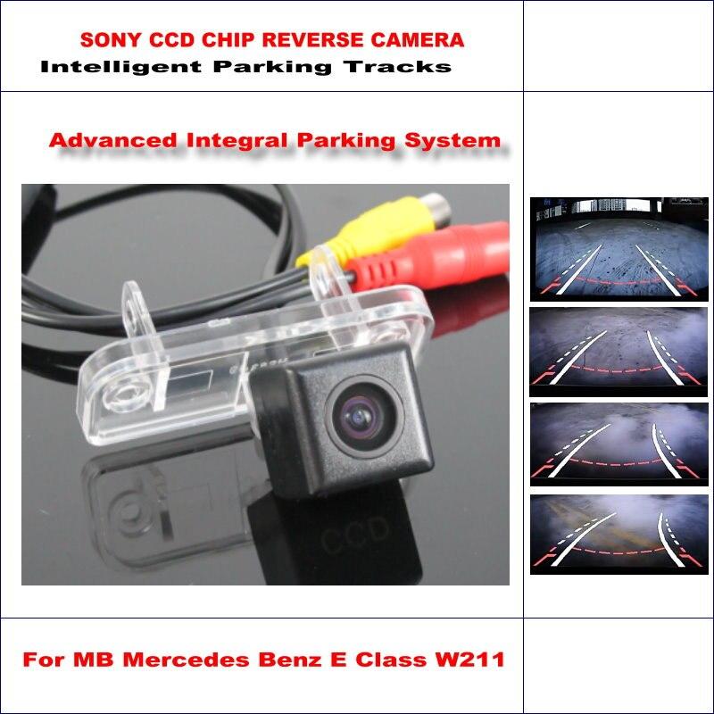 Intelligent Parking Tracks Rear Camera For MB Mercedes Benz E Class W211 2002-2008 Reverse NTSC RCA AUX HD SONY CCD 580 TV Lines цена 2017
