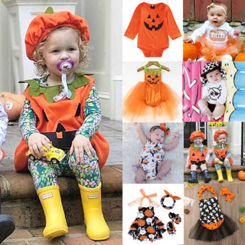 1941db261c74 Emmababy Halloween Infant Baby Girls Costume Kids Tops Romper Dress Party Clothes  Outfits