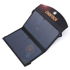 Image 2 - CHOETECH 19W Waterproof Solar Charger Foldable Outdoor Solar Panel Battery USB Charger with Auto Detect Tech For iPhone Samsung