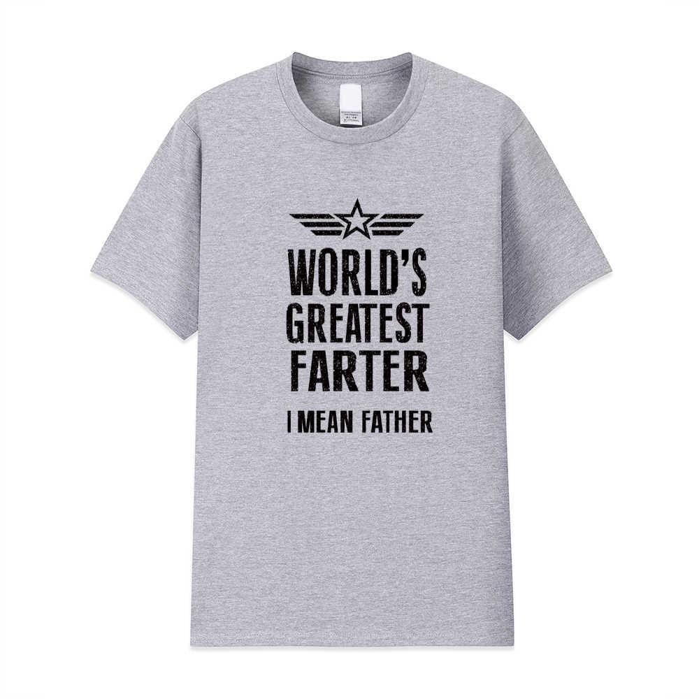 남성 패션 t 셔츠 반팔 세계에서 가장 위대한 farter 나는 아버지 면화 인쇄 tshirt homme fitness top 여름 t 셔츠를 의미합니다.