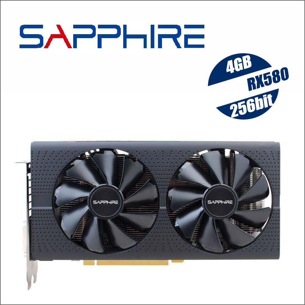 Original Used SAPPHIRE Radeon RX 580 4G 4GB RX580 256bit GDDR5 PCI Express 3.0 desktop gaming graphics cards video card