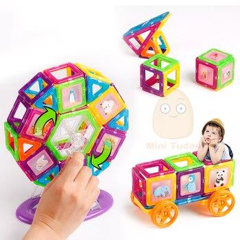 Mini 200PCS-46PCS Magnetic Designer Constructor Toy For Boys Girls Magnetic Building Blocks Magnet Educational Toys For Children 4