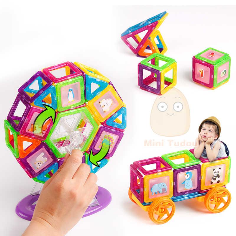 מיני 200PCS-46PCS מגנטי מעצב בנאי צעצוע עבור בני בנות מגנטי אבני בניין מגנט צעצועים חינוכיים עבור ילדים