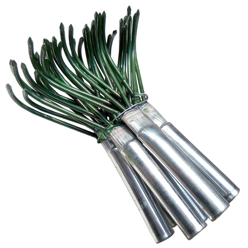 NEW Products Agricultural Carbon Steel Four-toothed Tines Rake Small Handle Peanut Lawn Leaf Tweezers Garden Tools