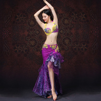 New Performance Women Dancewear Belly Dancing Clothes Oriental Dance Outfits Belly Dance Beaded Costume Bra And