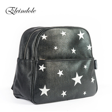 Eleindole 2017 Unisex Backpacks Stars Bag Waterproof Bag Side Buckles Black/Silver Hanging on Stroller Protable Mother Backpacks