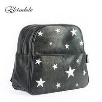 2016 New Arrival Unisex Backpacks Stars Pattern Side Buckles Black Silver Hanging On Stroller Protable Printing