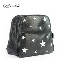 2016 New Arrival Unisex Backpacks Stars Pattern Side Buckles Black Silver Hanging On Stroller Protable Printing