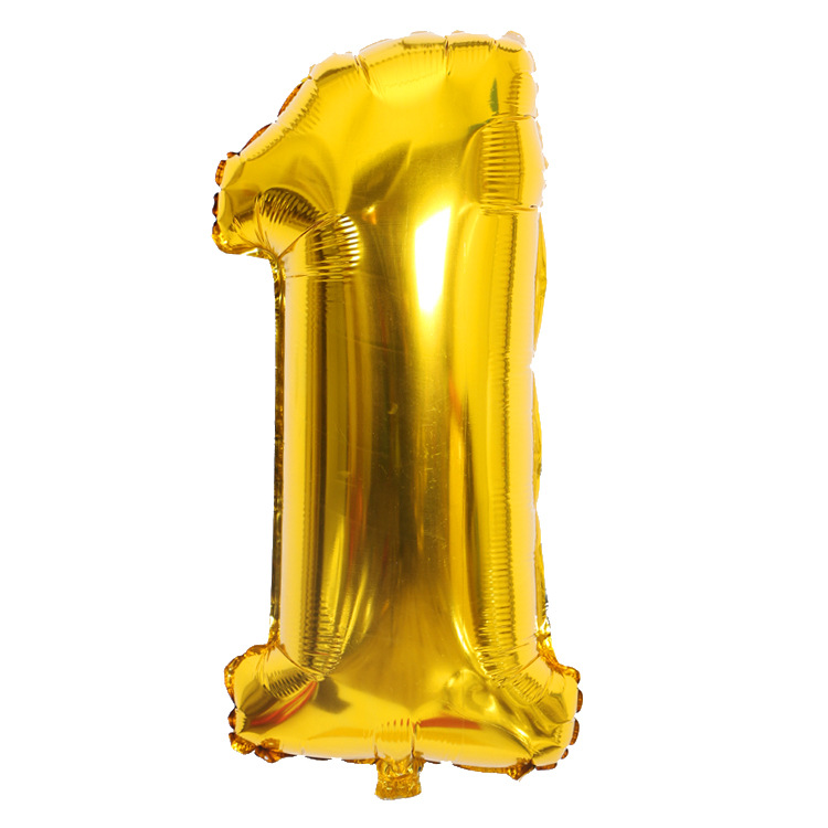 Gold Sliver 32 Inch  0-9  Large Helium Digital Air Ballons Foil Children Festival Birthday Party For Kids Cartoon Hat Toys #6