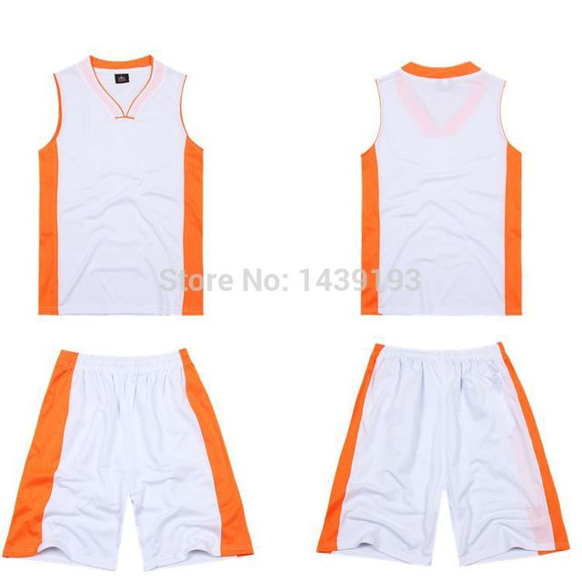White With Orange Side Plain Jersey Printed Design Customic