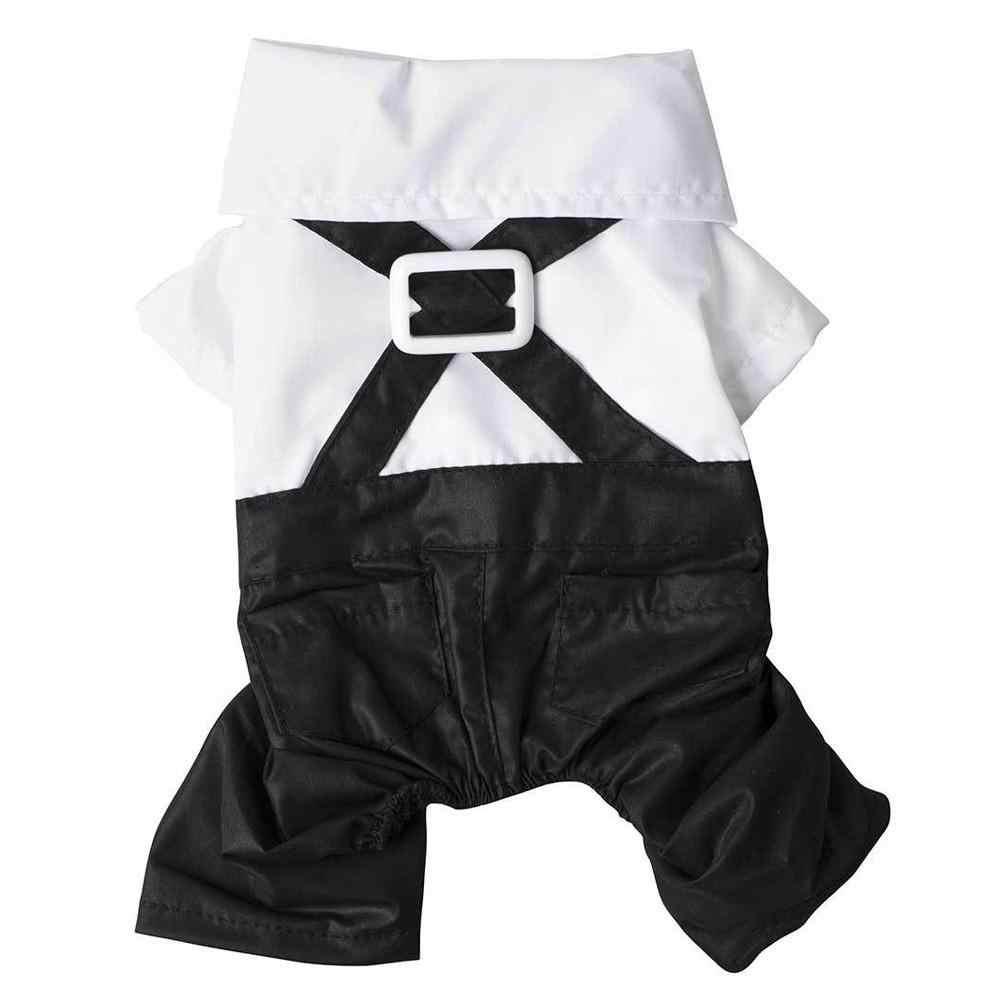 Panno del cane Nero Signore A Quattro Zampe Vestito Pantaloni dell'abito Nero Bow Tie Gentleman Pet Dog Costume Pet Abito Da Sposa Vestito di Vestito