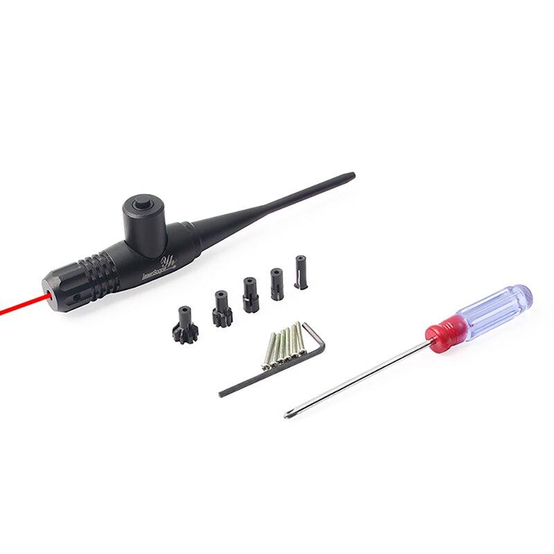 Red Dot Laser Bore Sighter Collimateur Kit pour. 22 à. 50 gun Fusil de Chasse Calibre Professionnel Laser Portée