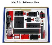 Multifunctional 6 in 1 mini lathe tool DIY driller drilling machine for wood and metal