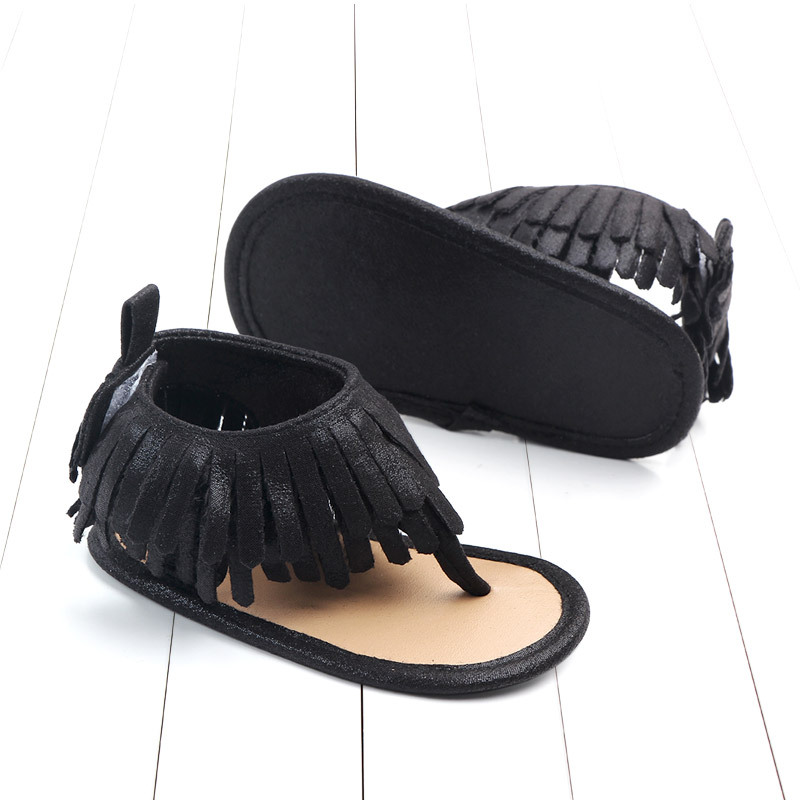 Baby comfortable sandals 2018 summer new boy girls beach shoes kids casual sandals children fashion Baby Girl Tassel Sandals (15)