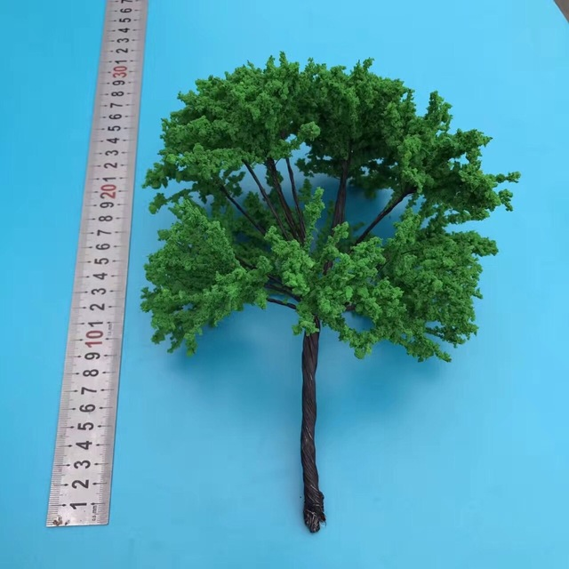 1pcs H 25cm Scale Model Tree Wire Middle Green Tree For Train Layout ...