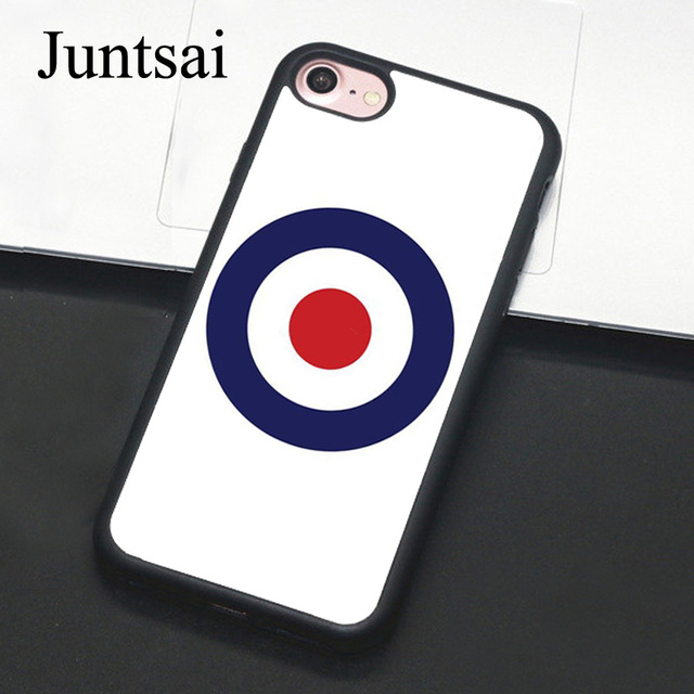 sale retailer 95c1a 626d5 US $4.11 5% OFF|Juntsai MOD WHITE TARGET TPU Soft Rubber Mobile Phone Case  For Apple iPhone X 8 7 6s Plus 7Plus 6Plus 6s 6 5 5S SE Cover-in Fitted ...
