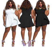 Ladies jumpsuit women short Sleeve solid color large size loose fat womens romper playsuit NEW autumn new middle east popular solid color loose casual hanging neck loose wide leg large size fat mm sexy ladies dress