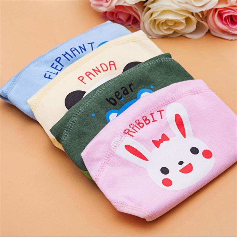 1Pcs Cute Baby Diapers Reusable Nappies Cloth Diaper Washable Infants Children Baby Cotton Training Pants Panties