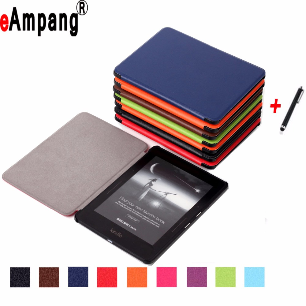 Case For Amazon Kindle Voyage Pu Leather Ultra Slim Light Weight Magnet Sleep Wake Up Smart Cover Case for Amazon Kindle Voyage ultra slim protective pu flip open smart case for amazon kindle paper white brown