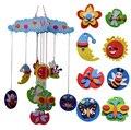 4 padrões crianças DIY handmade Eva Wind chime brinquedos/Kids craft adesivos para decoração do quarto do jardim de infância brinquedos educativos