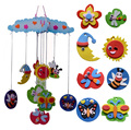 4 patterns children DIY handmade Eva Wind chime toys/ Kids kindergarten craft stickers for room decoration educational toys