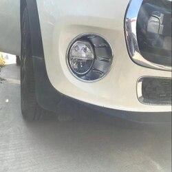Darmowa wysyłka 2 sztuk ABS Chrome samochodów przednie lampy przeciwmgielne pokrywa wykończenia przeciwmgielne światła odcień wykończenia dla Mini Cooper 2018 Car Styling