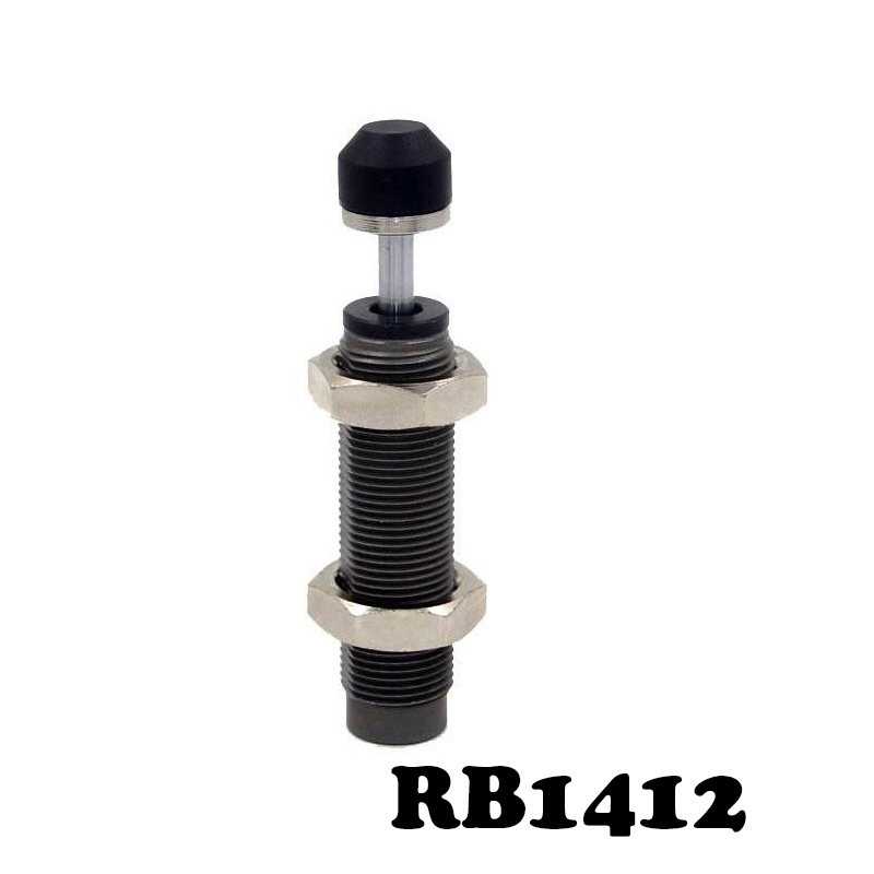 RB1412 Hydraulic buffer Pneumatic Air Cylinder Shock Absorber RB 1412 O.D. thread size 14mm Stroke 12mm SMC type Buffers high quality double acting pneumatic gripper mhy2 25d smc type 180 degree angular style air cylinder aluminium clamps