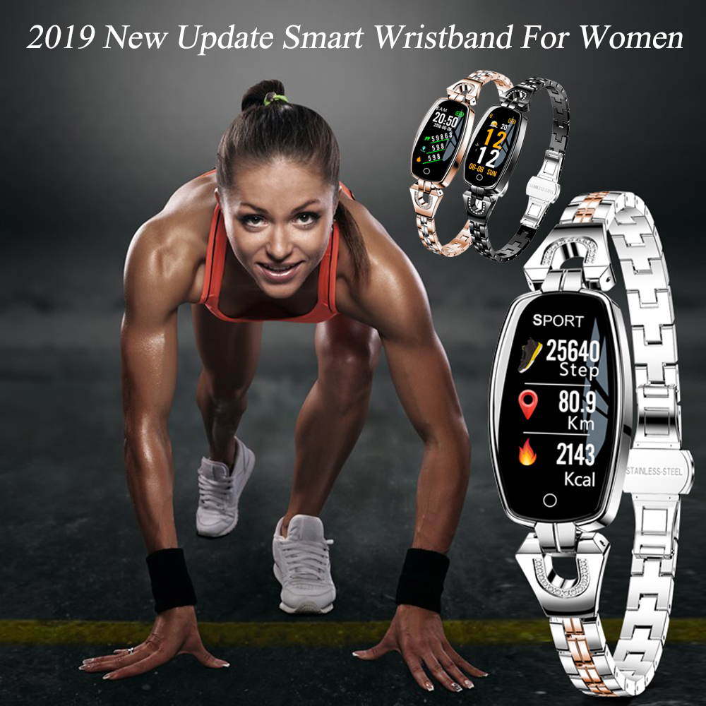 Brilliant 2019 New Update H8 Smart Bracelet Women Activity Fitness Tracker Heart Rate Monitor Blood Pressure Waterproof Smart Wristband Fashionable And Attractive Packages